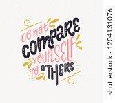 hand lettering positive self... | Shutterstock .eps vector #1204131076