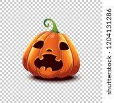 happy halloween. vector... | Shutterstock .eps vector #1204131286