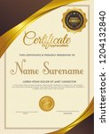 certificate template with... | Shutterstock .eps vector #1204132840