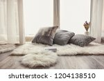 cozy place for rest with soft... | Shutterstock . vector #1204138510