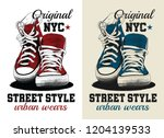 sneakers illustration for t... | Shutterstock .eps vector #1204139533