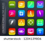 design vectorcolored icons in...