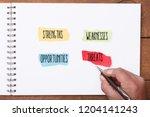 strengths  weakness ... | Shutterstock . vector #1204141243