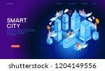 smart city or intelligent... | Shutterstock .eps vector #1204149556