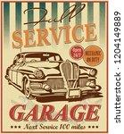 vintage garage retro poster | Shutterstock .eps vector #1204149889