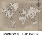 old  fantasy themed world... | Shutterstock .eps vector #1204150813