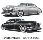 retro car isolated on white... | Shutterstock .eps vector #1204151053