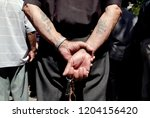 pensioners take part in a... | Shutterstock . vector #1204156420