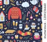 festive winter background....   Shutterstock .eps vector #1204156660