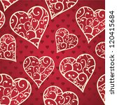 valentines wallpaper with... | Shutterstock .eps vector #120415684