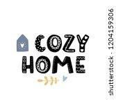 cozy home simple vector... | Shutterstock .eps vector #1204159306