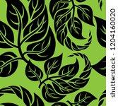 vector seamless floral pattern... | Shutterstock .eps vector #1204160020