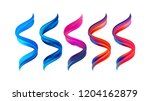 vector illustration  set of 3d...   Shutterstock .eps vector #1204162879