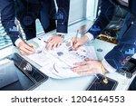 double exposure mixed media.... | Shutterstock . vector #1204164553