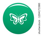unusual butterfly icon. simple... | Shutterstock .eps vector #1204172380