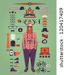 hipster info graphic background ...
