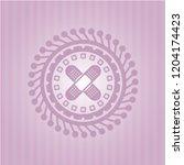 crossed bandage plaster icon... | Shutterstock .eps vector #1204174423