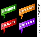 various discount tags and labels | Shutterstock .eps vector #120417550