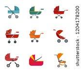 Baby Carriage Pram Icon Set....