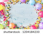 multicolored carnival or... | Shutterstock . vector #1204184233