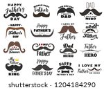fathers day vector holiday... | Shutterstock .eps vector #1204184290