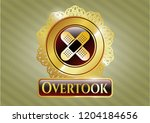 gold emblem with crossed... | Shutterstock .eps vector #1204184656
