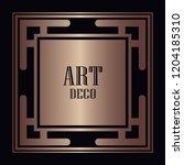 art deco border and frame....   Shutterstock .eps vector #1204185310