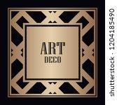 vintage retro style invitation...   Shutterstock .eps vector #1204185490