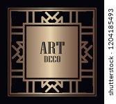 vintage retro style invitation...   Shutterstock .eps vector #1204185493