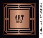 vintage retro style invitation...   Shutterstock .eps vector #1204185496