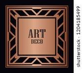 vintage retro style invitation...   Shutterstock .eps vector #1204185499