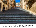 caltagirone  italy   september... | Shutterstock . vector #1204189090