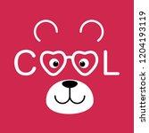 face teddy bear boy isolated on ... | Shutterstock .eps vector #1204193119
