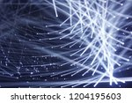 modern spotlights  connecting... | Shutterstock . vector #1204195603