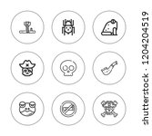 poison icon set. collection of... | Shutterstock .eps vector #1204204519