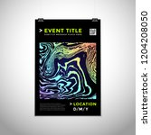 vector vibrant gradient colors... | Shutterstock .eps vector #1204208050
