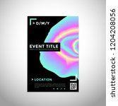 vector vibrant gradient colors... | Shutterstock .eps vector #1204208056