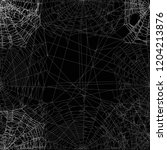 illustration with spider web... | Shutterstock .eps vector #1204213876