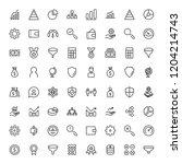 trade flat icon set. single... | Shutterstock .eps vector #1204214743