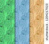 seamless floral pattern... | Shutterstock .eps vector #1204217023