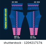 leggings pants fashion... | Shutterstock .eps vector #1204217176