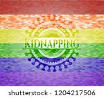kidnapping on mosaic background ... | Shutterstock .eps vector #1204217506