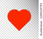 red heart icon isolated on... | Shutterstock .eps vector #1204225753