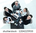 top view.business team at a... | Shutterstock . vector #1204225933