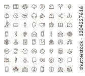 chat icon set. collection of... | Shutterstock .eps vector #1204227616