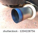 titanium exhaust pipe   Shutterstock . vector #1204228756
