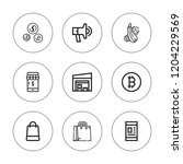 market icon set. collection of... | Shutterstock .eps vector #1204229569