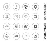 rounded icon set. collection of ...