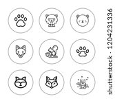 wolf icon set. collection of 9... | Shutterstock .eps vector #1204231336