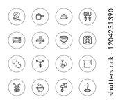 kitchenware icon set....   Shutterstock .eps vector #1204231390